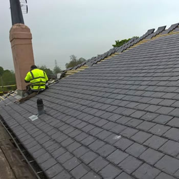 Westmorland slates for Penrhyn at Flaxton Lodge.