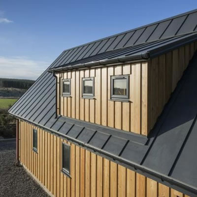 SSR2 Roof provides the perfect alternative to Zinc for Holiday home
