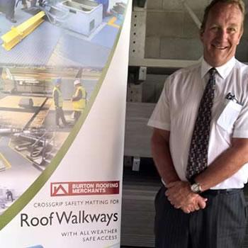 Crossgrip Roof Walkway Matting provides a Santa solution in Livingston.