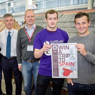 Roofing Students win trip to Spain with CUPA!
