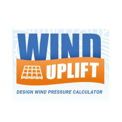 BRE tested and calibrated wind uplift calculator.