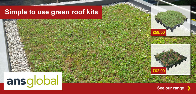 Simple to use green roof kits